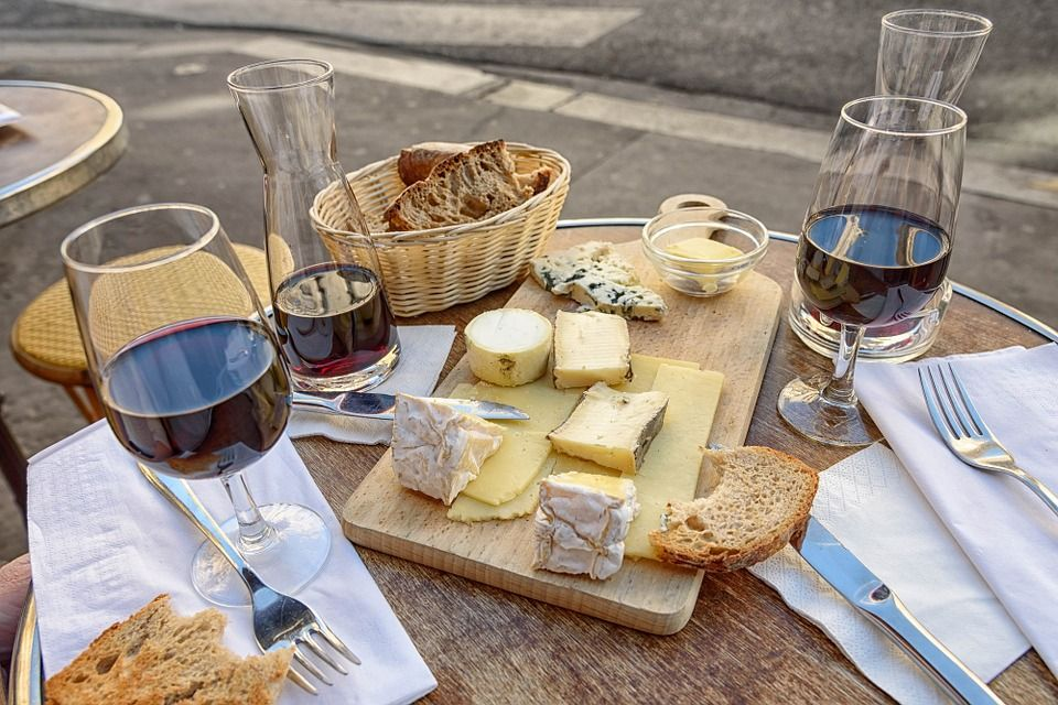Accords fromages et vins